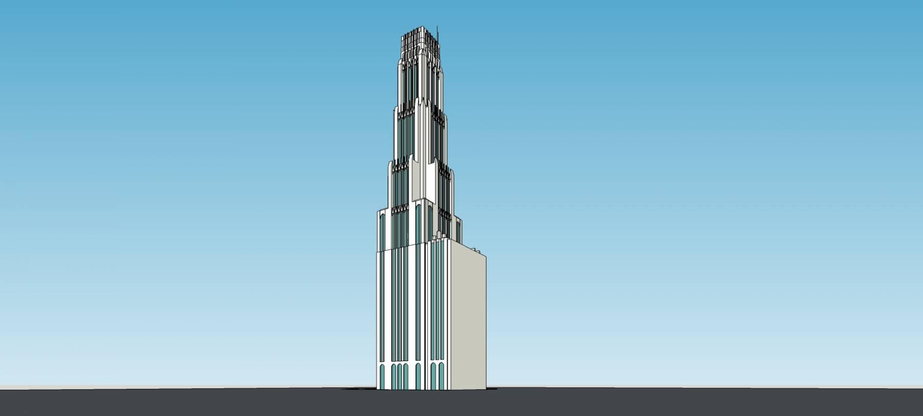 现代超高层塔楼