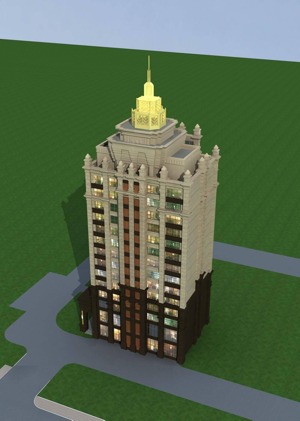 新古典风格小高层住宅公寓
