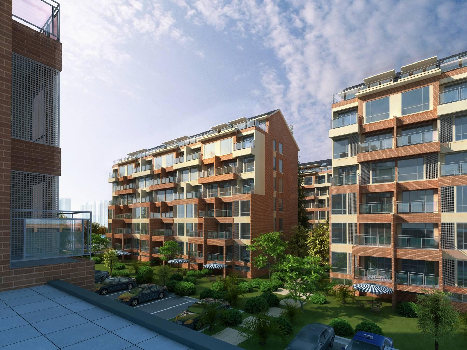 现代大型住宅小区