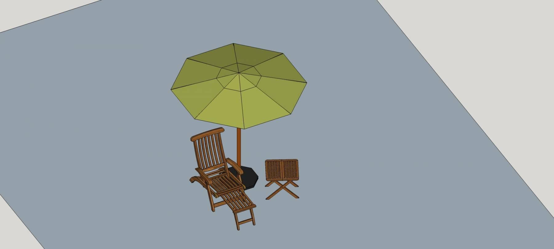 露天桌椅及伞亭