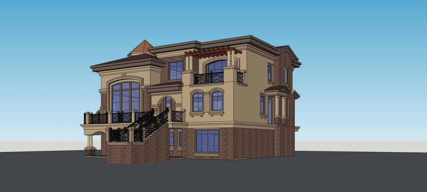 新古典风格双拼别墅