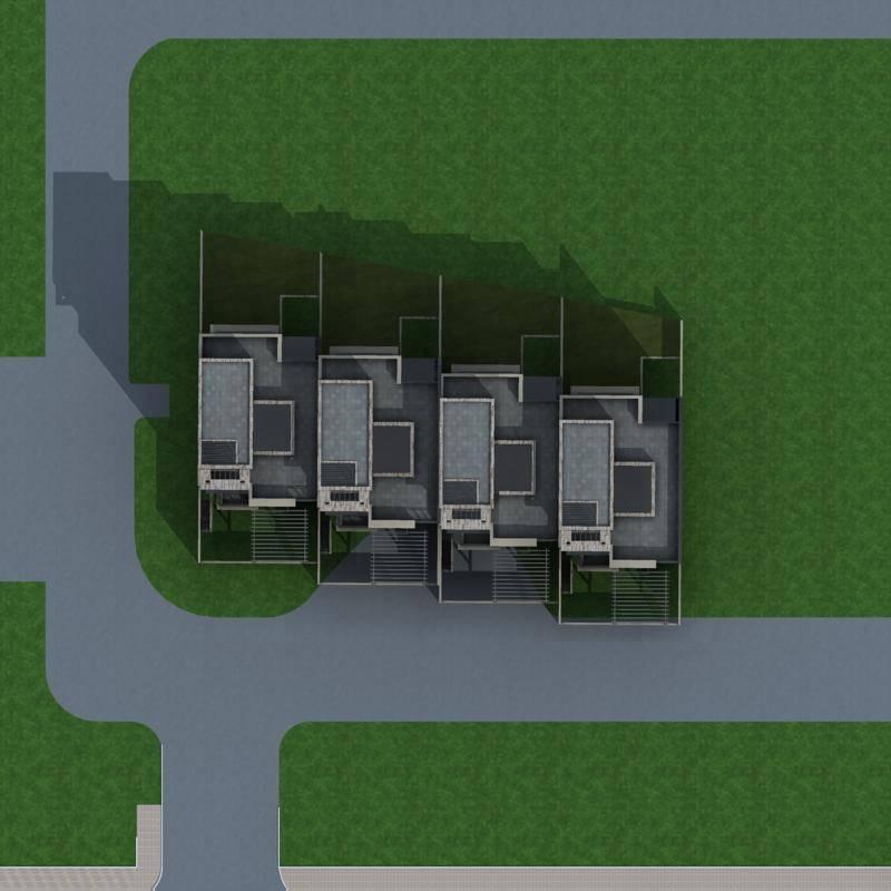 现代联排别墅