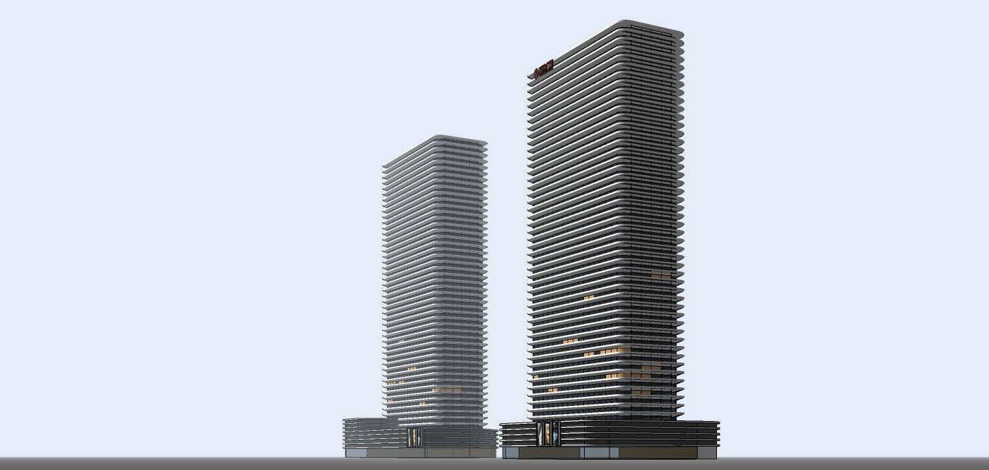 现代超高层酒店办公楼