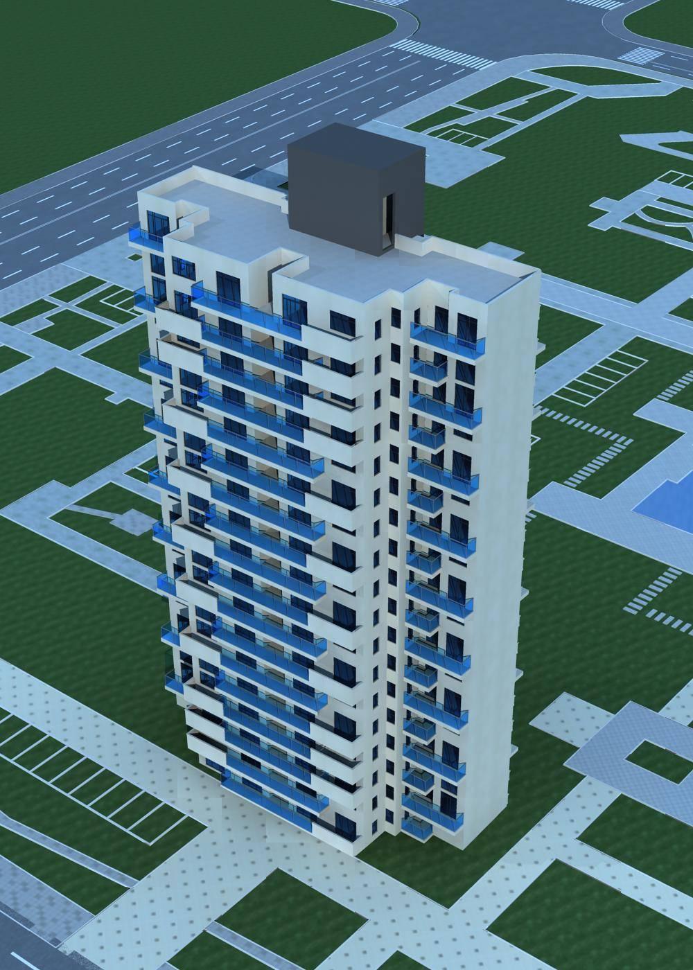 现代小高层住宅楼