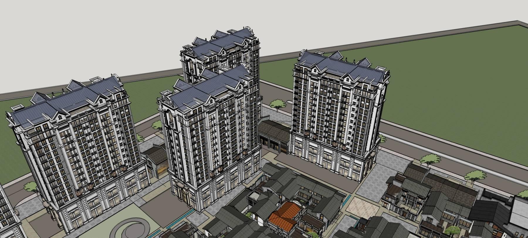 大型中式商业住宅规划