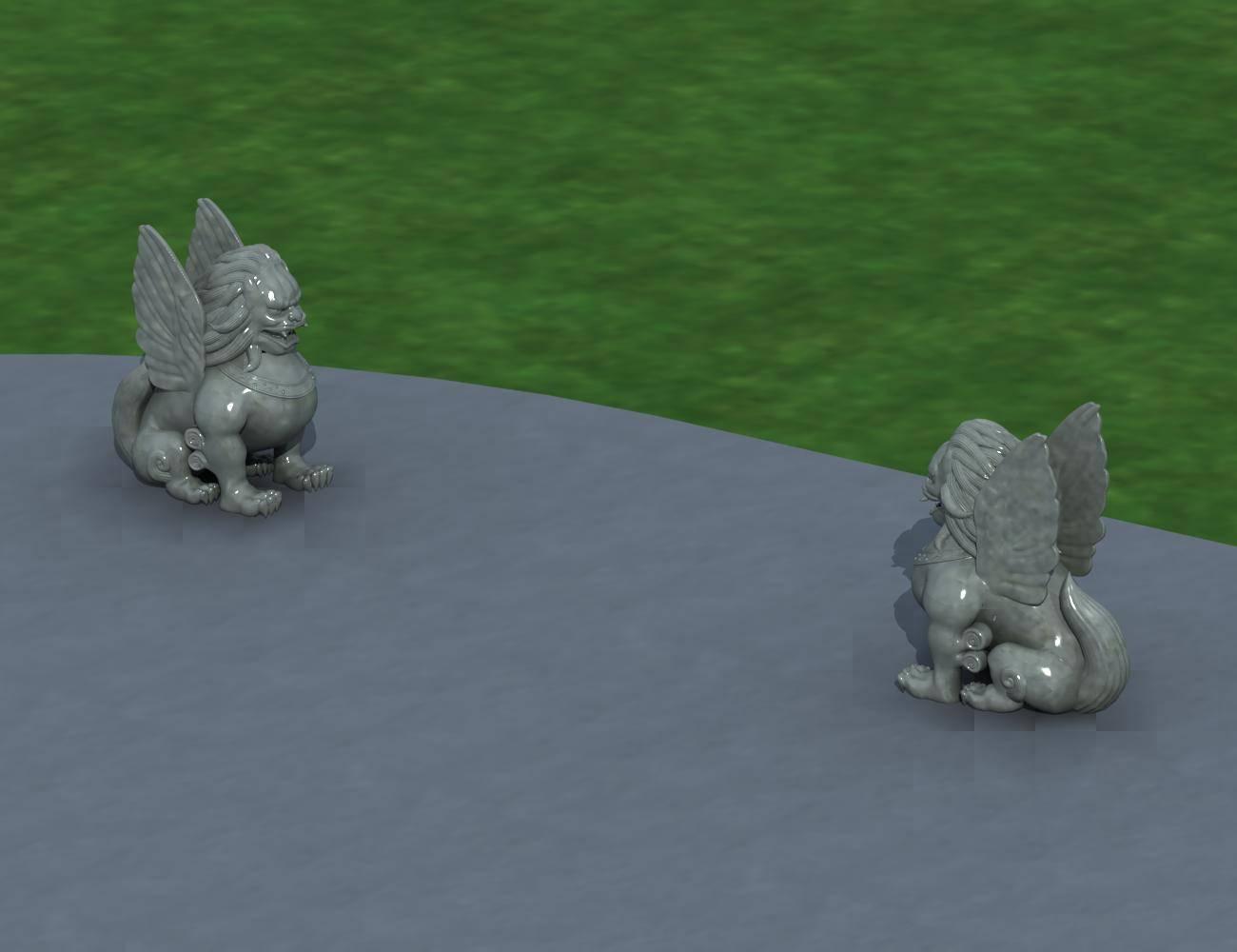 景观--石狮雕塑