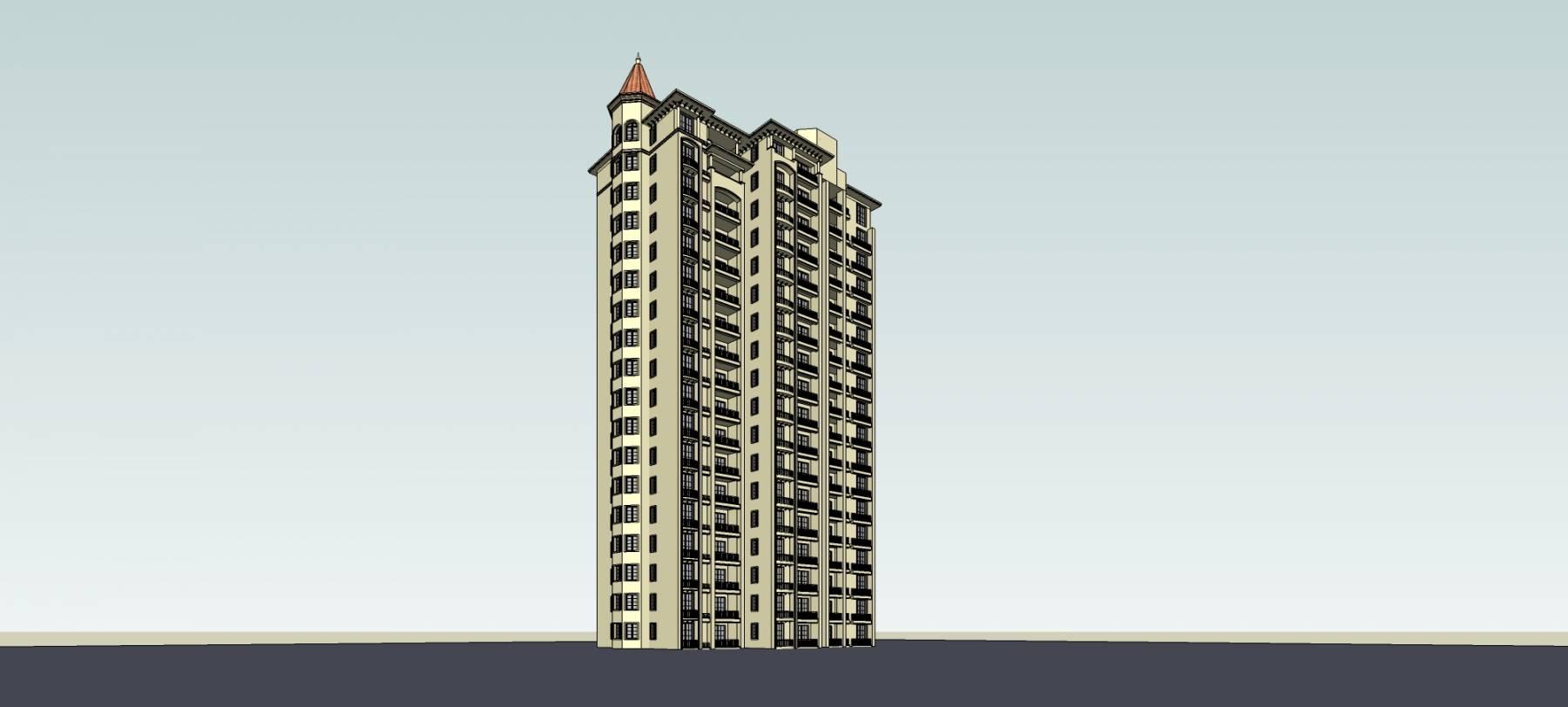西班牙风格高层住宅楼