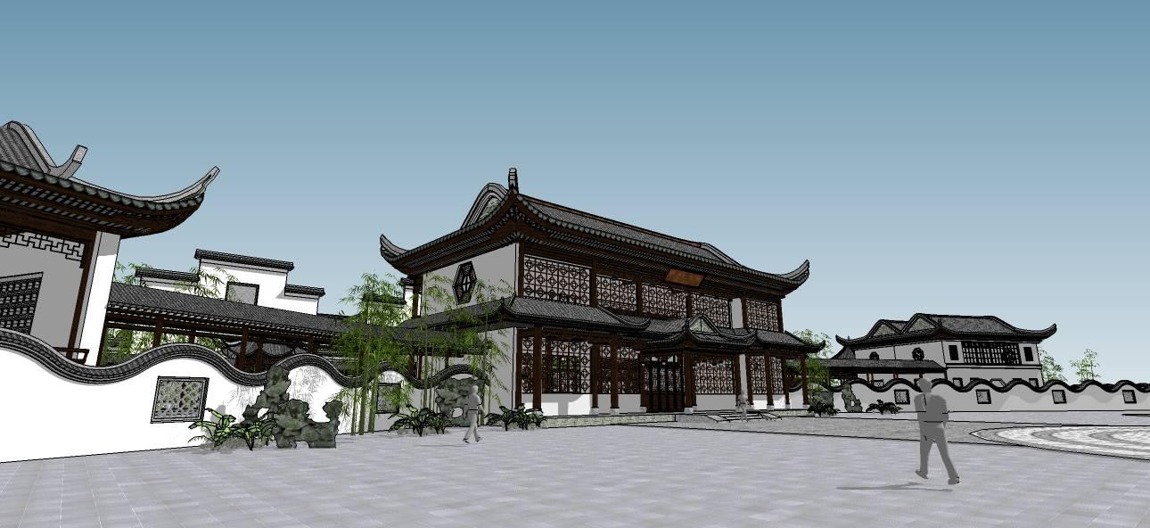 徽派酒店-复古会所(精模)