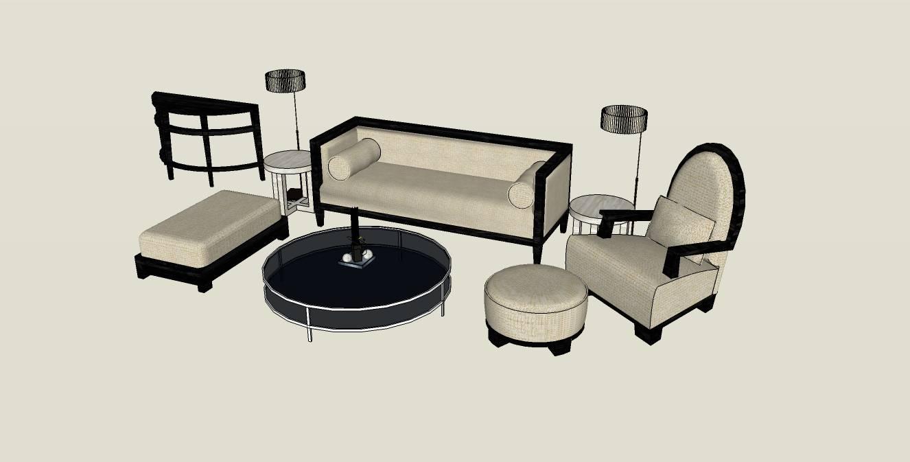 多个室内家具沙发su模型