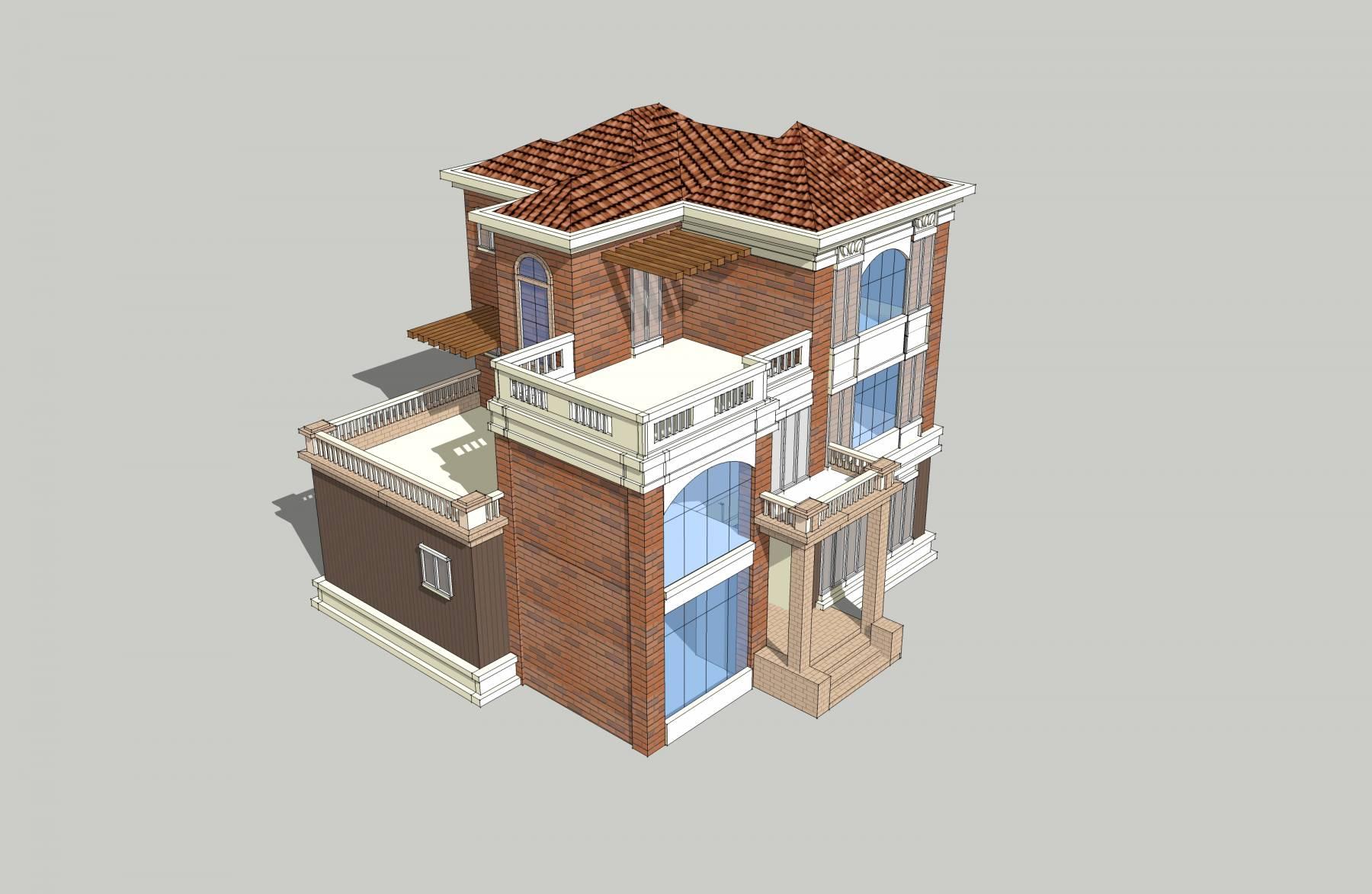 简欧 别墅 模型