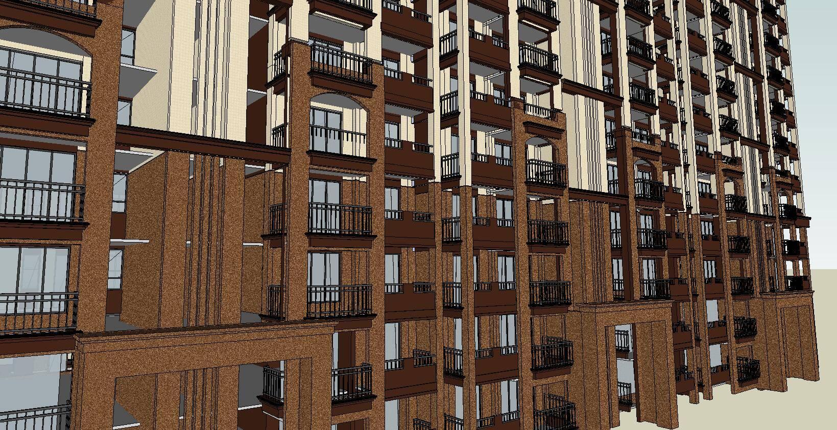 超精细欧式住宅模型