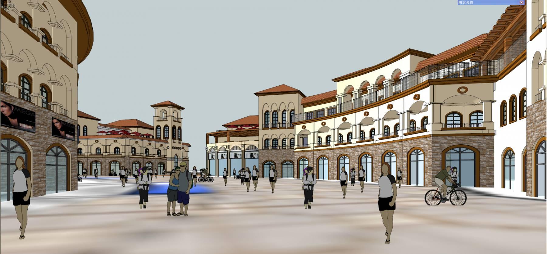 豪德敦化 西班牙风格商业街
