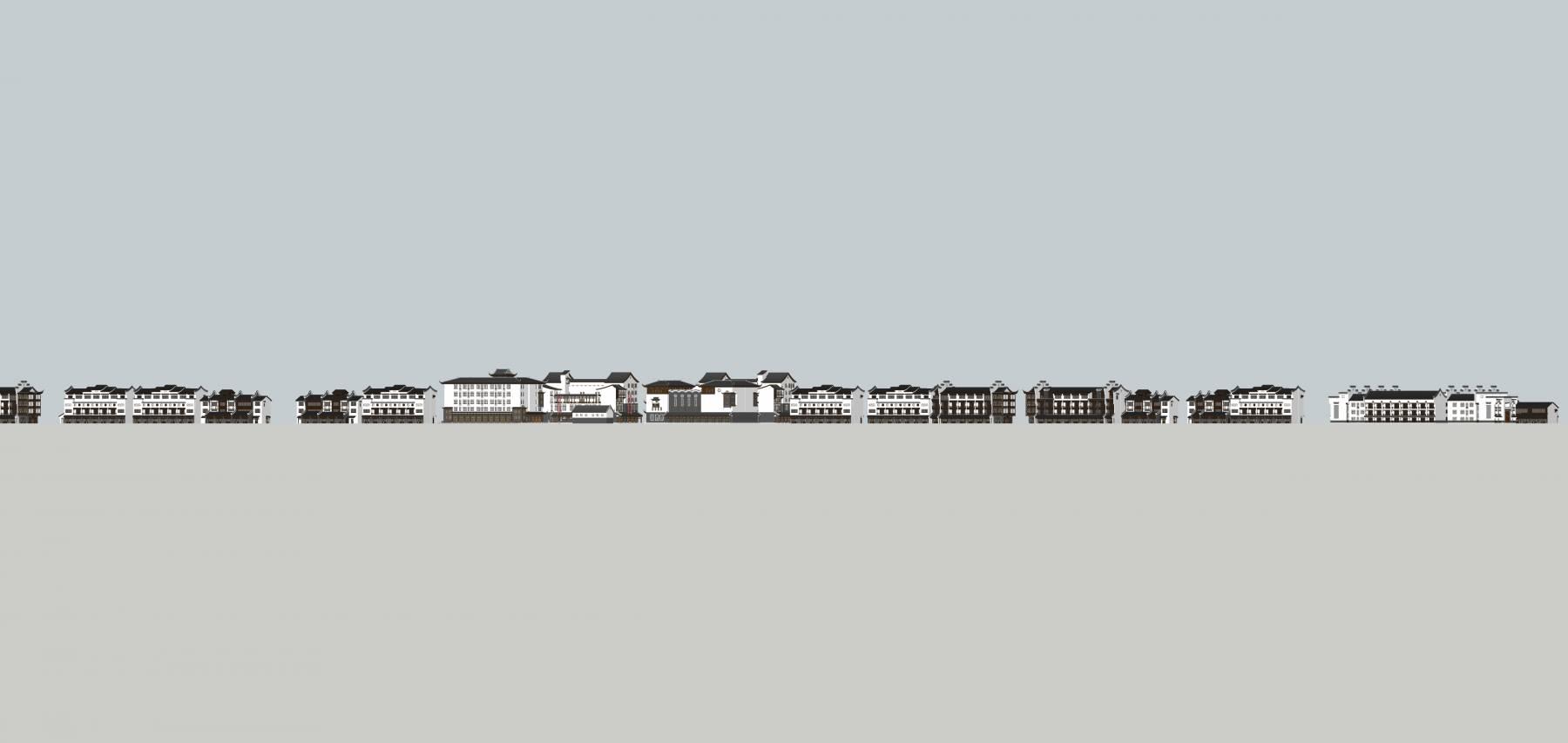全套古镇精细模型(多个建筑单体)