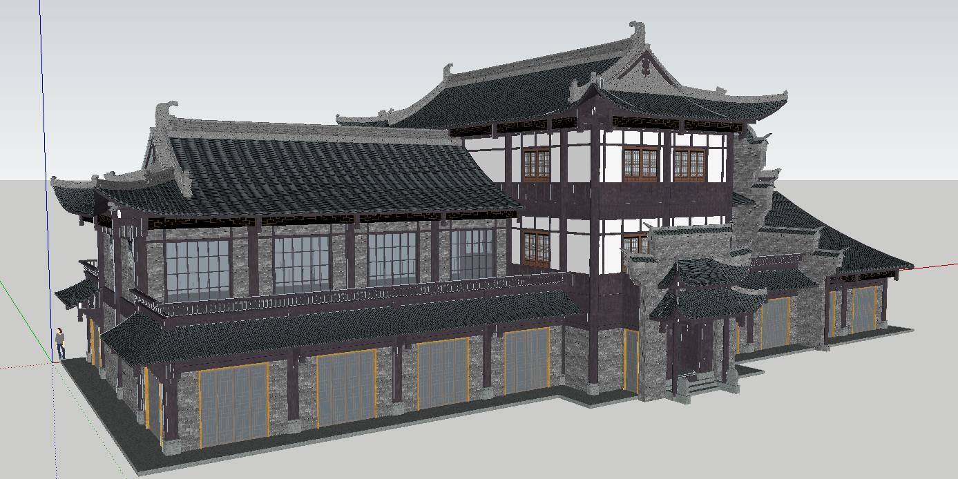 中式商业楼