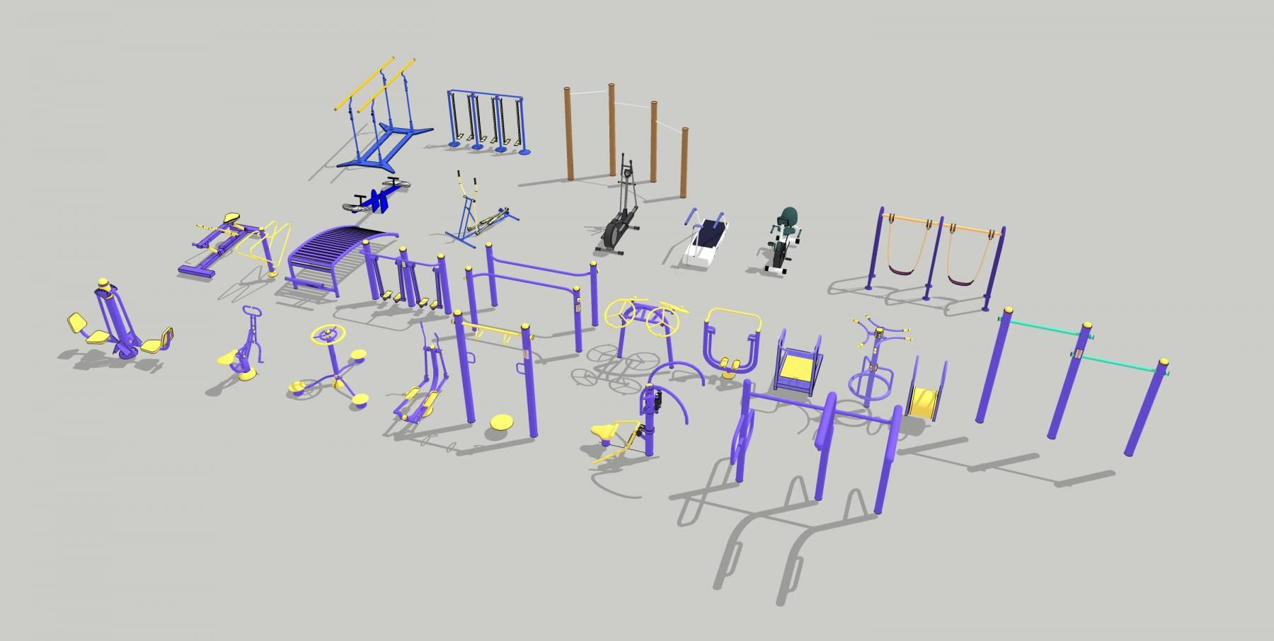 各式健身器材合集