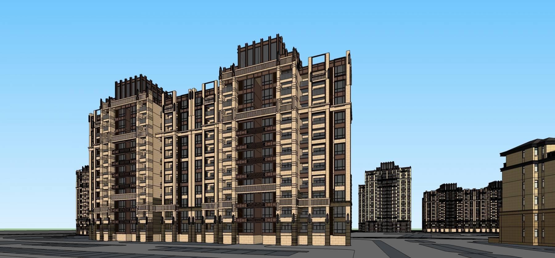 新古典风格小区规划