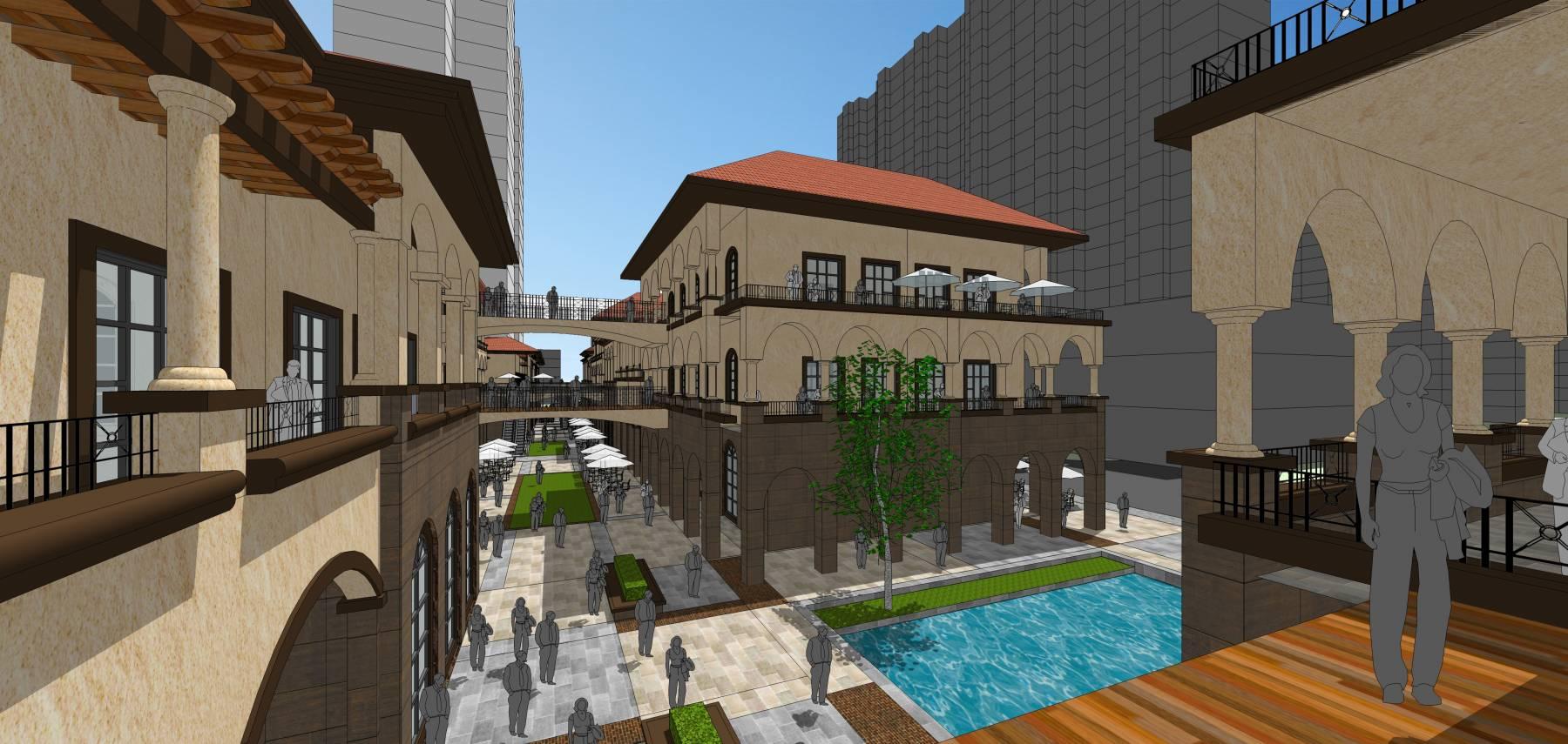 欧式风情商业街区概念方案