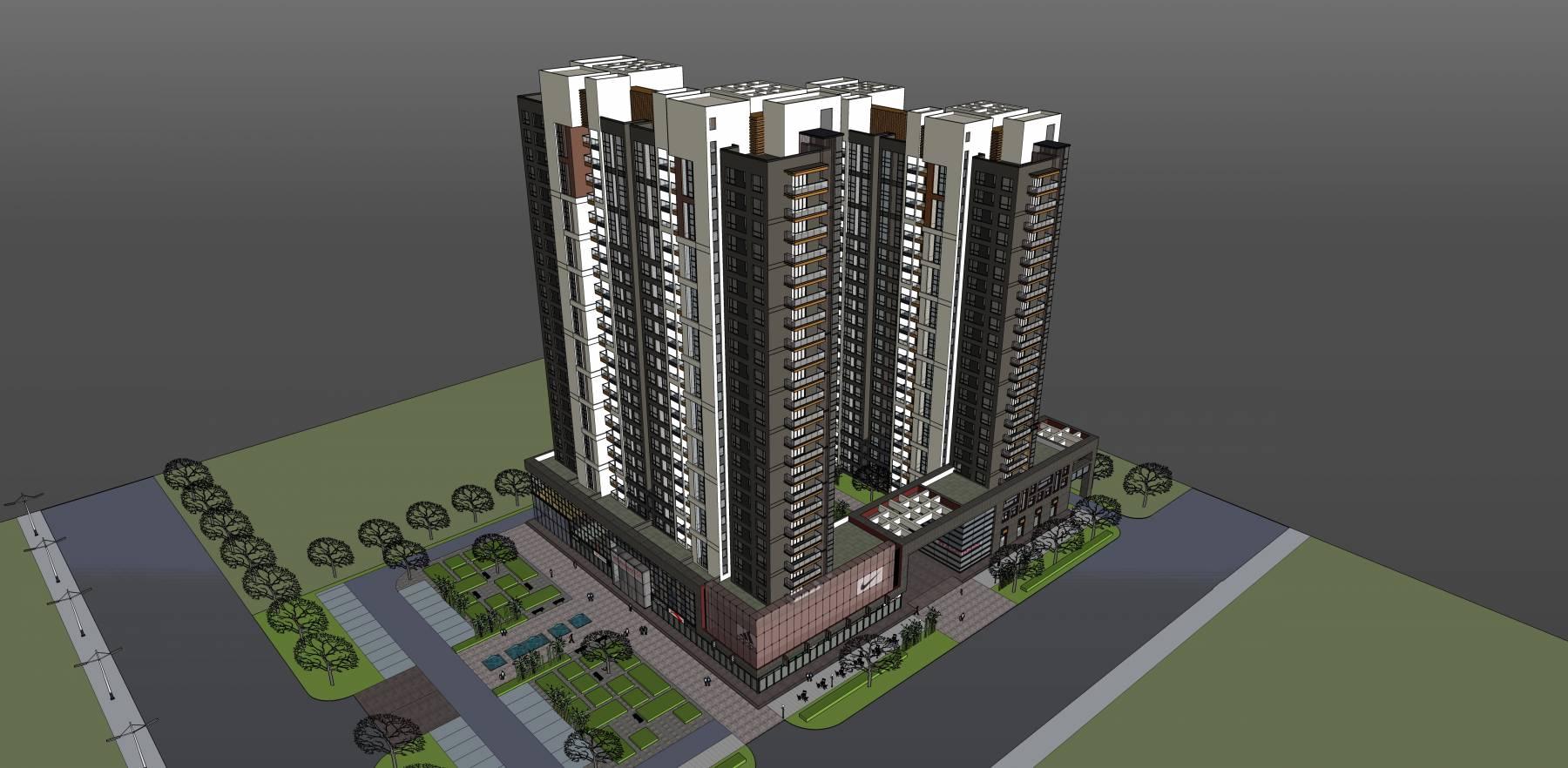 高层现代商业住宅