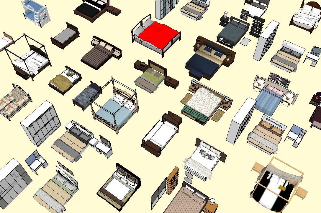 各式各样床模型