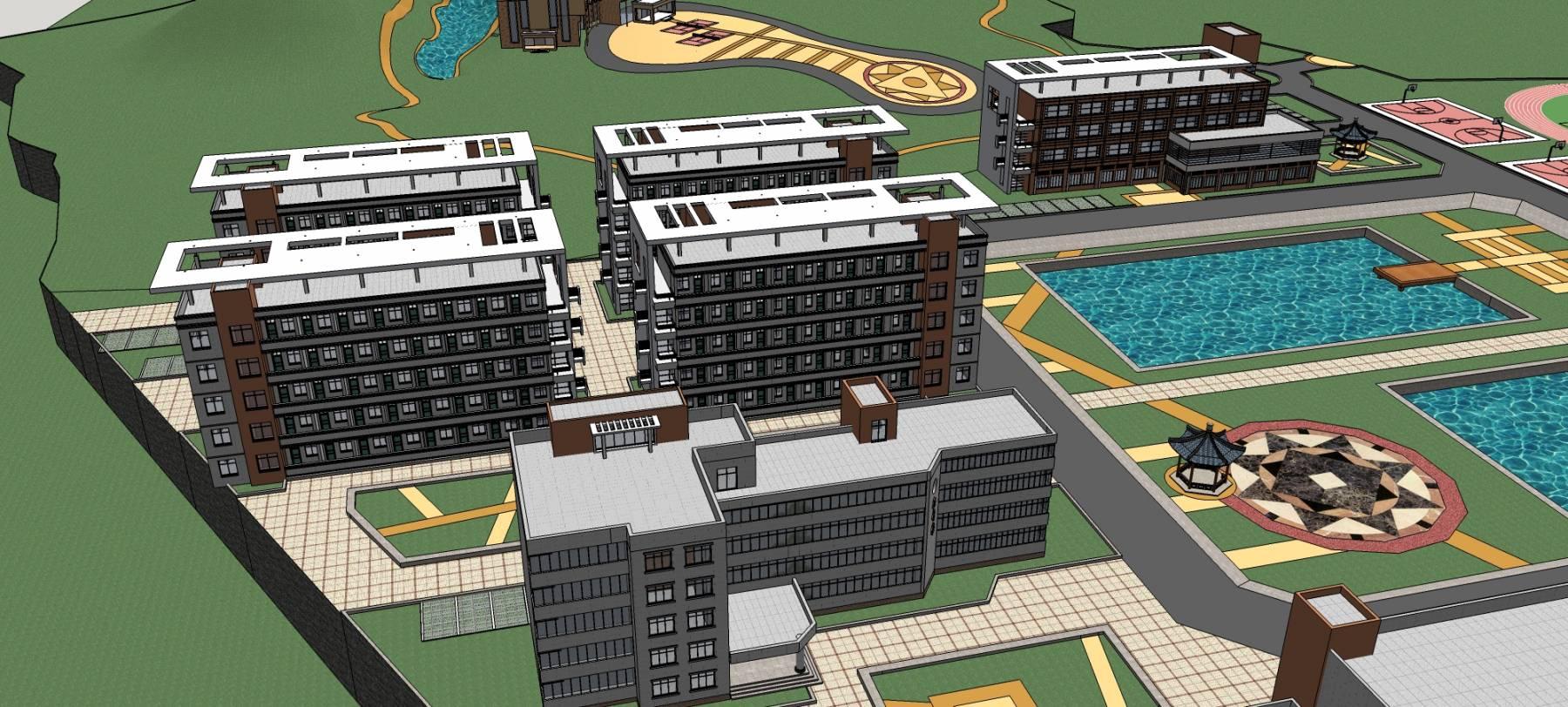 四平某学校规划模型
