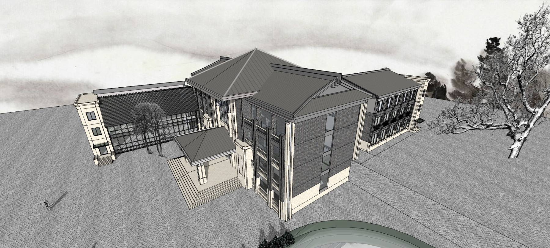 小办公楼模型