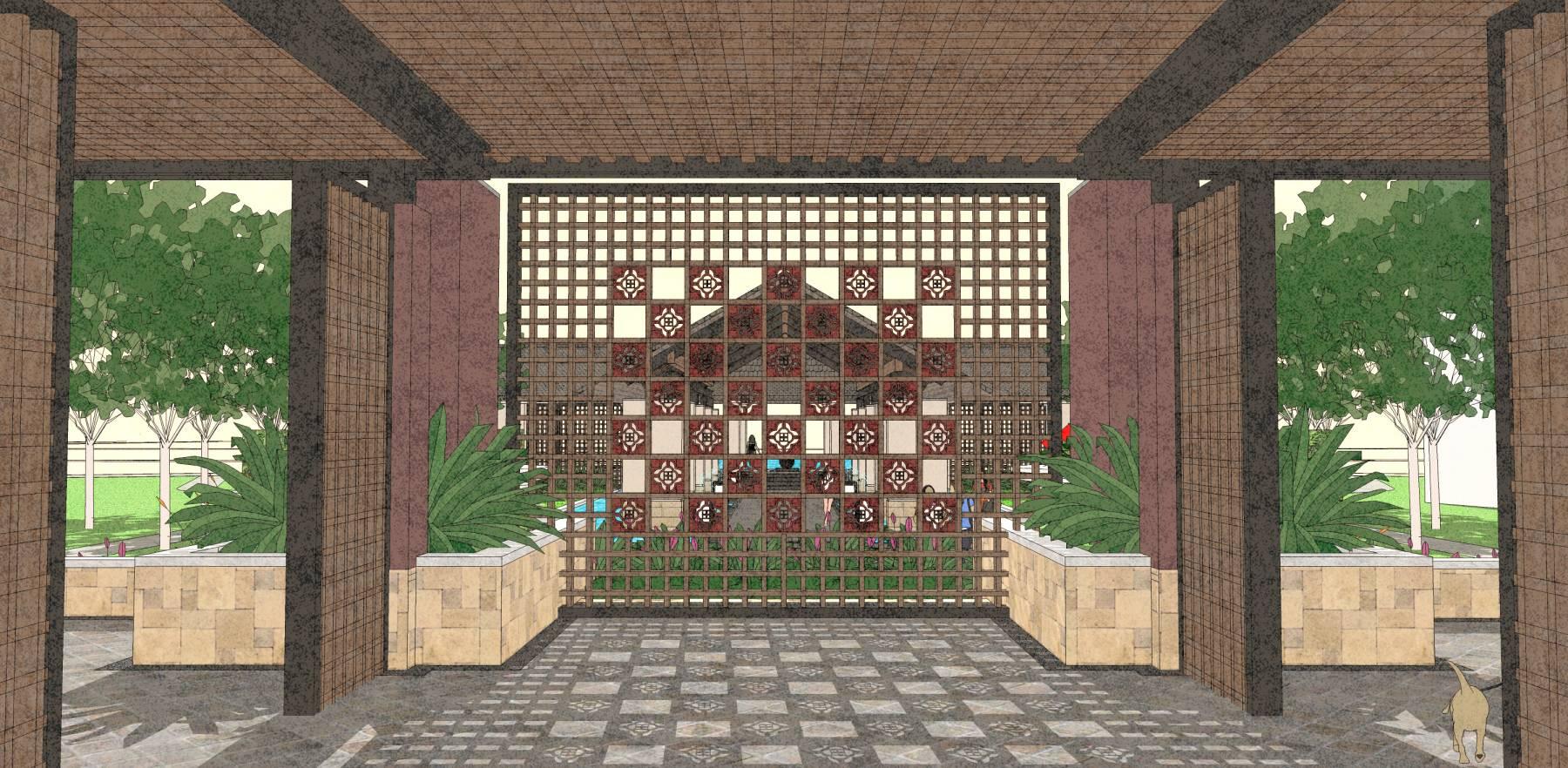 中式风格景观楼盘