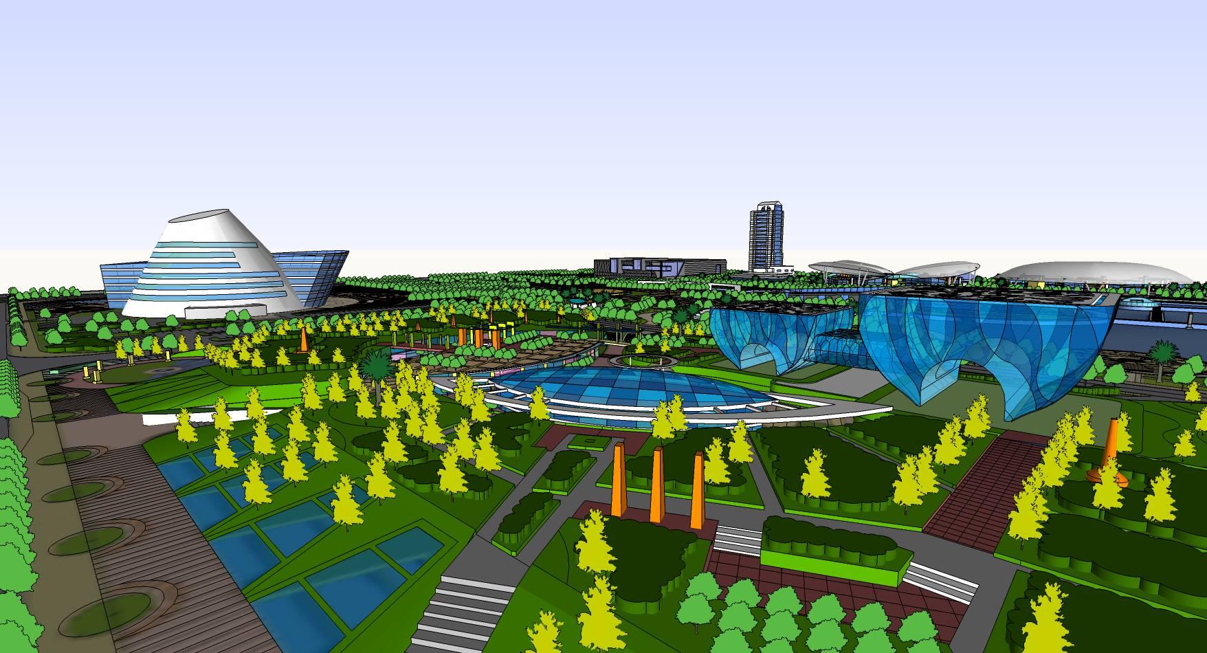 城市中心大型完整综合商业规划设计