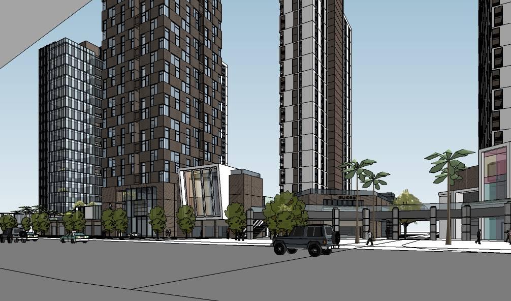 现代风格大型综合办公商业建筑模型