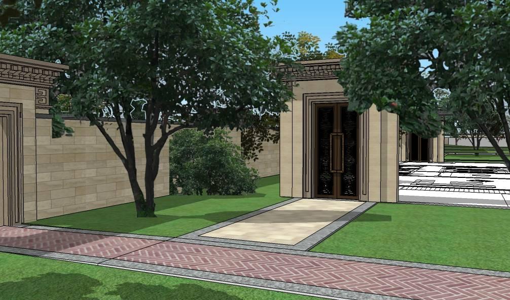 泰禾现代中式风格售楼中心建筑模型