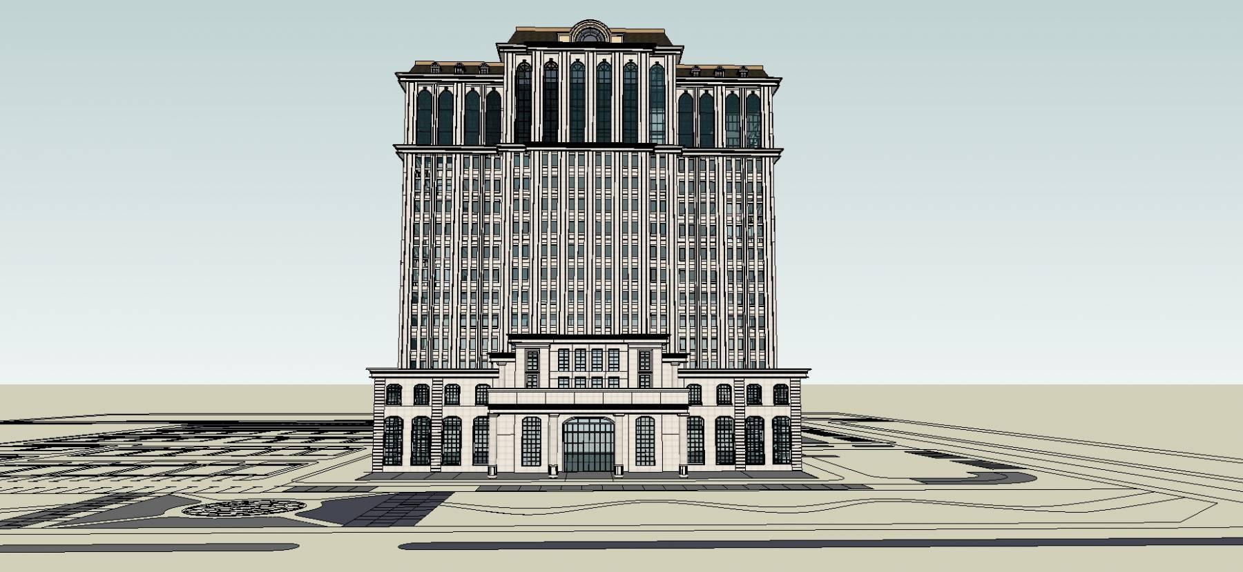 精细欧式酒店办公楼公寓楼