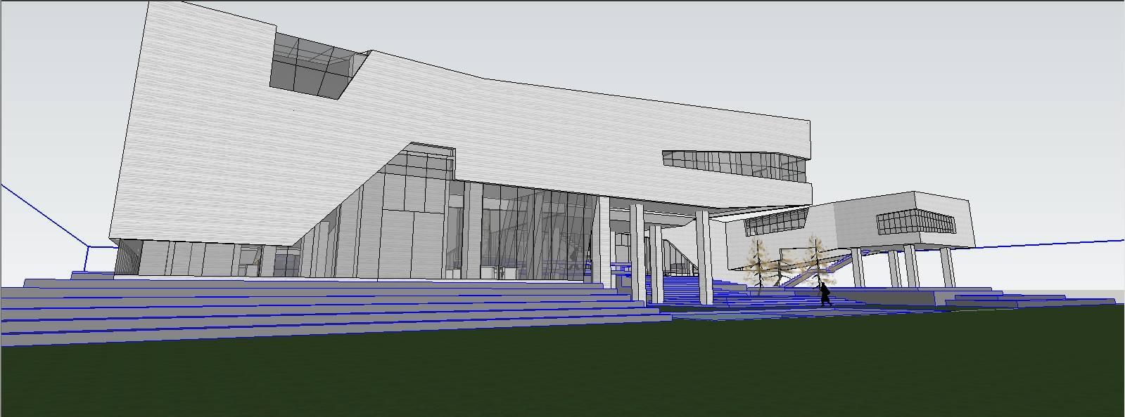 某概念公共建筑 博物馆