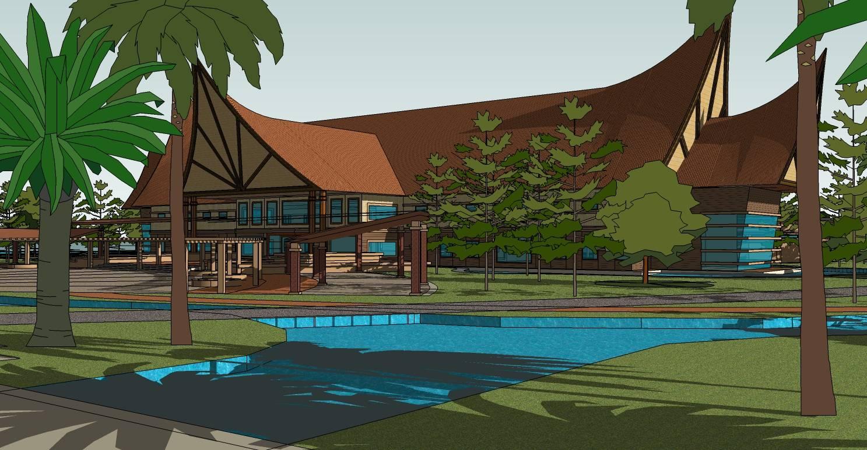 东南亚休闲度假酒店规划精模