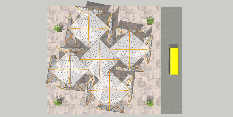 现代景观城市小品雕塑竹子亭塔廊架05