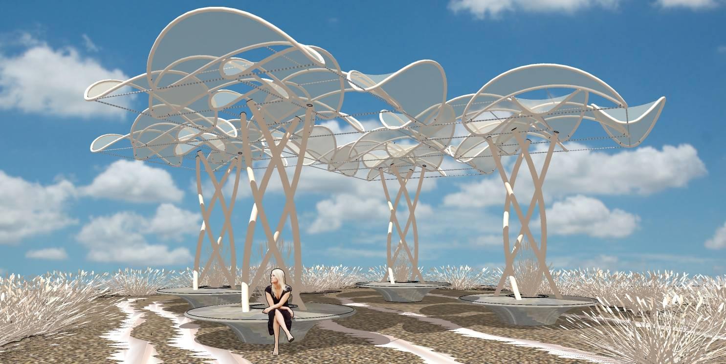 现代景观城市小品雕塑竹子亭塔廊架48