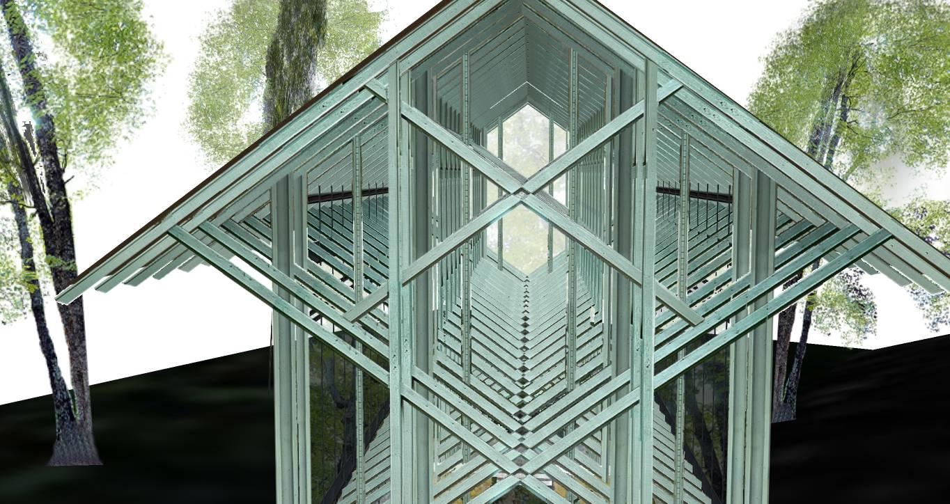 现代景观城市小品雕塑竹子亭塔廊架69