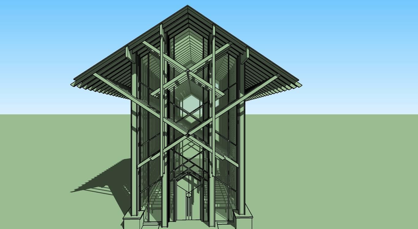 现代景观城市小品雕塑竹子亭塔廊架68