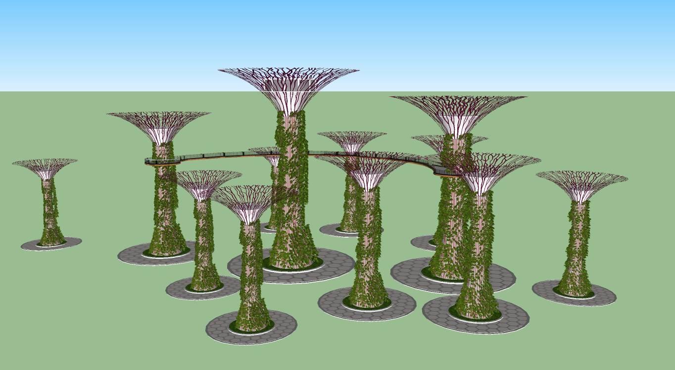 超级树城市小品雕塑