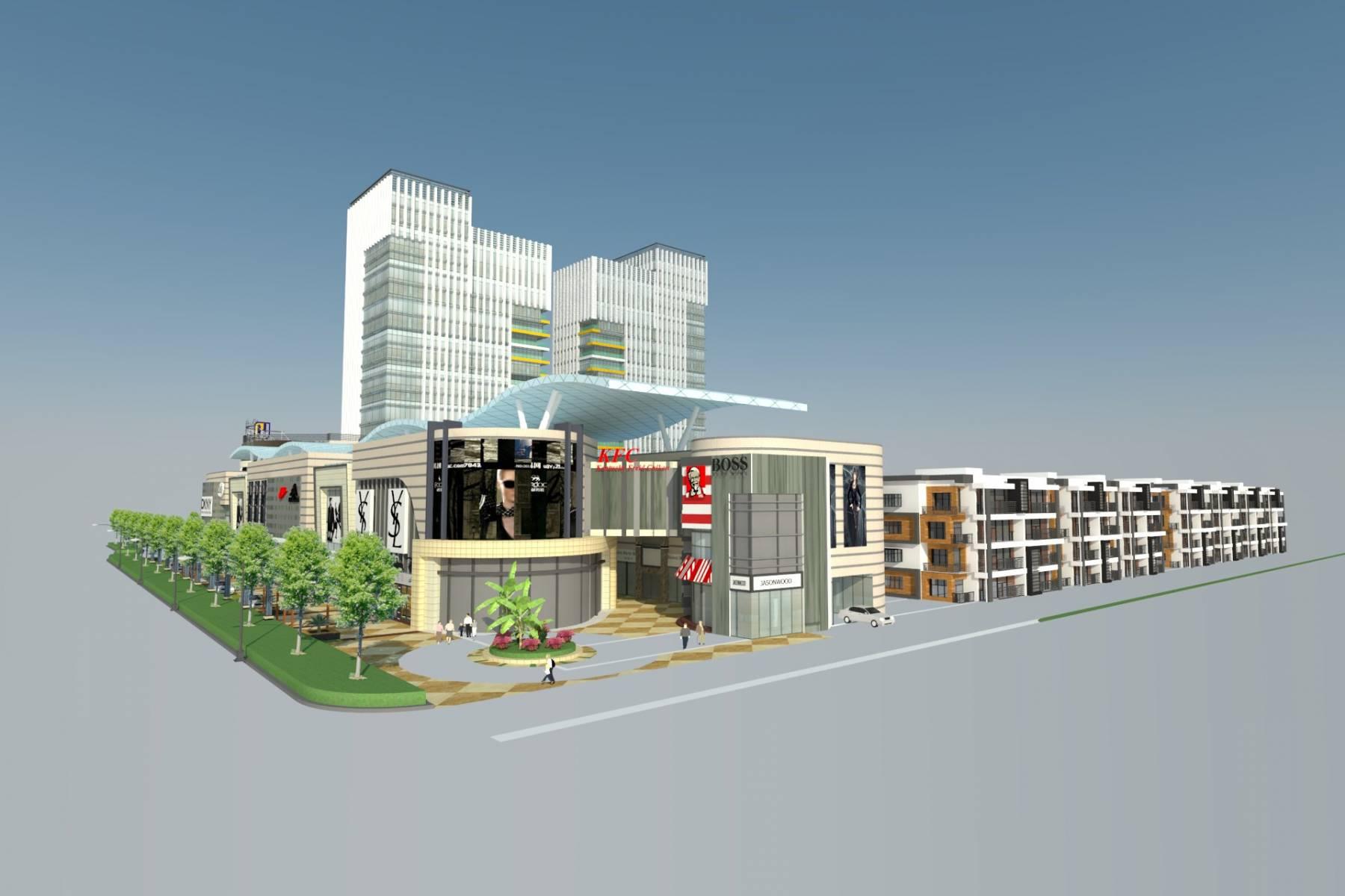 办公+酒店公寓商住楼规划