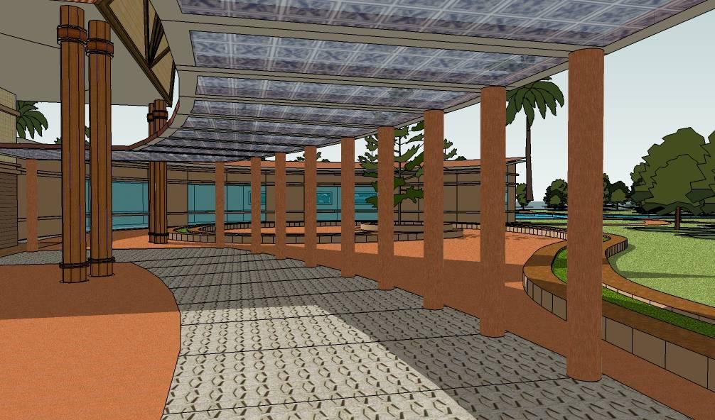 东南亚泰式风格度假酒店建筑模型
