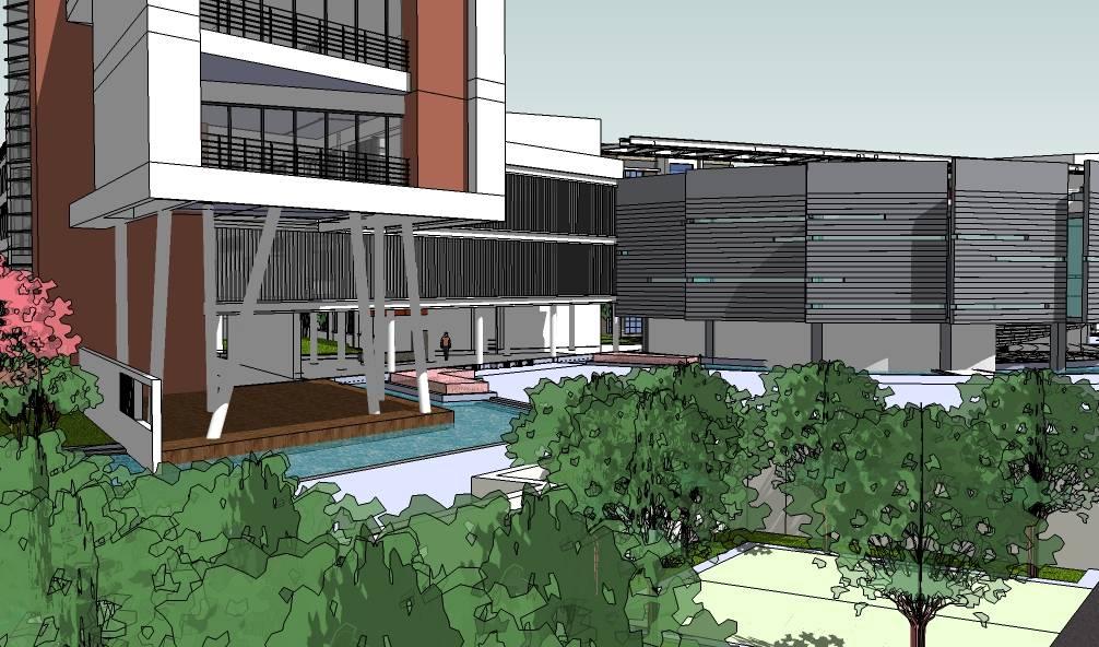 现代多层学校教学楼建筑sketchup模型