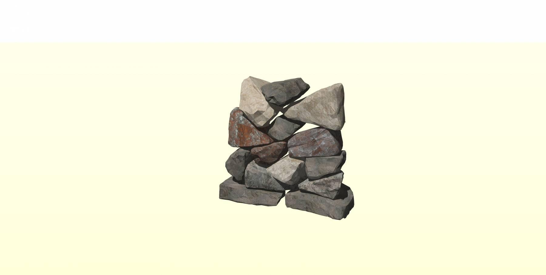 石头模型b