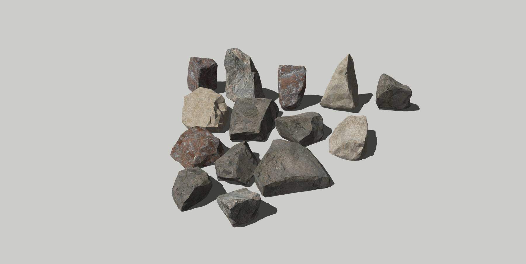石头模型h