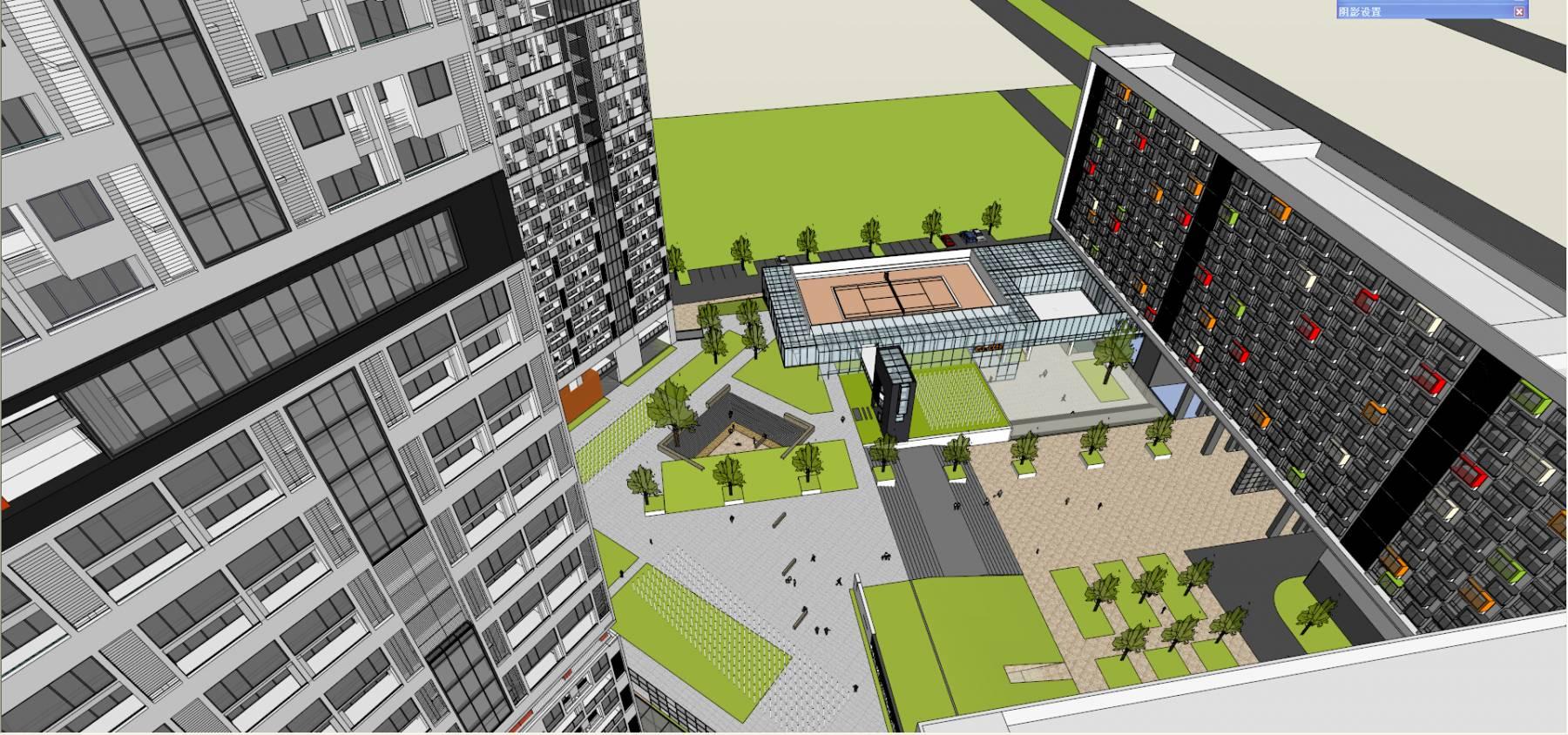 人才公寓大楼总体超精细模型