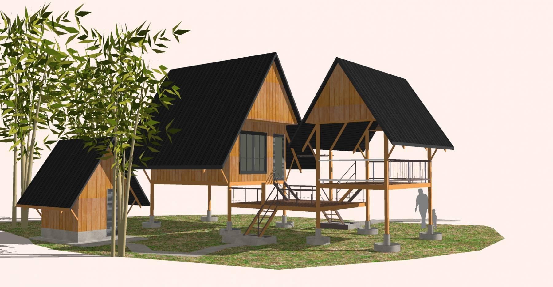 生态旅游现代度假别墅精模11