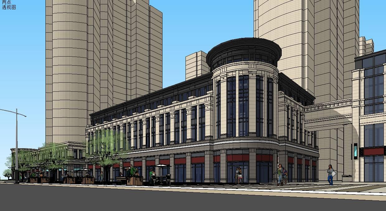 040金湖欧式商业街住在底商 沿街商业 入口