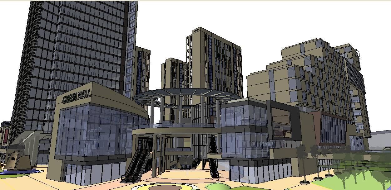 规划模型+商业综合体+公建办公高
