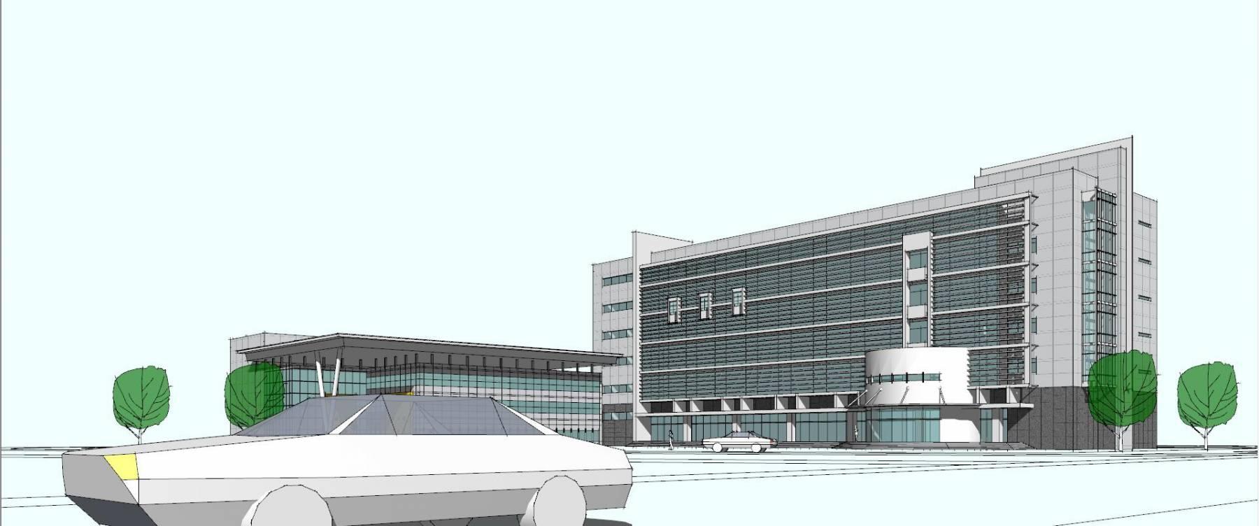 迈耶式办公楼模型