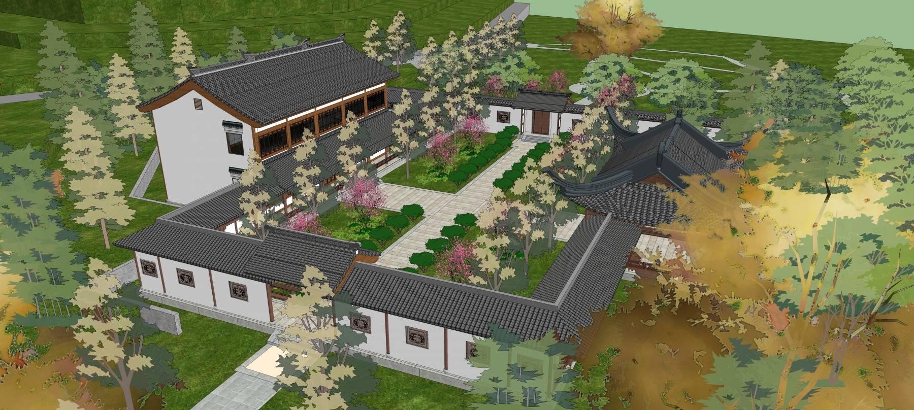 中式建筑庭院