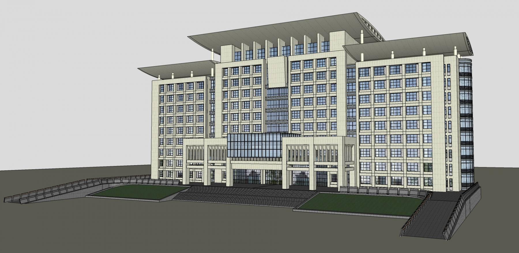 现代 高层 办公楼 写字楼 综合楼 11224