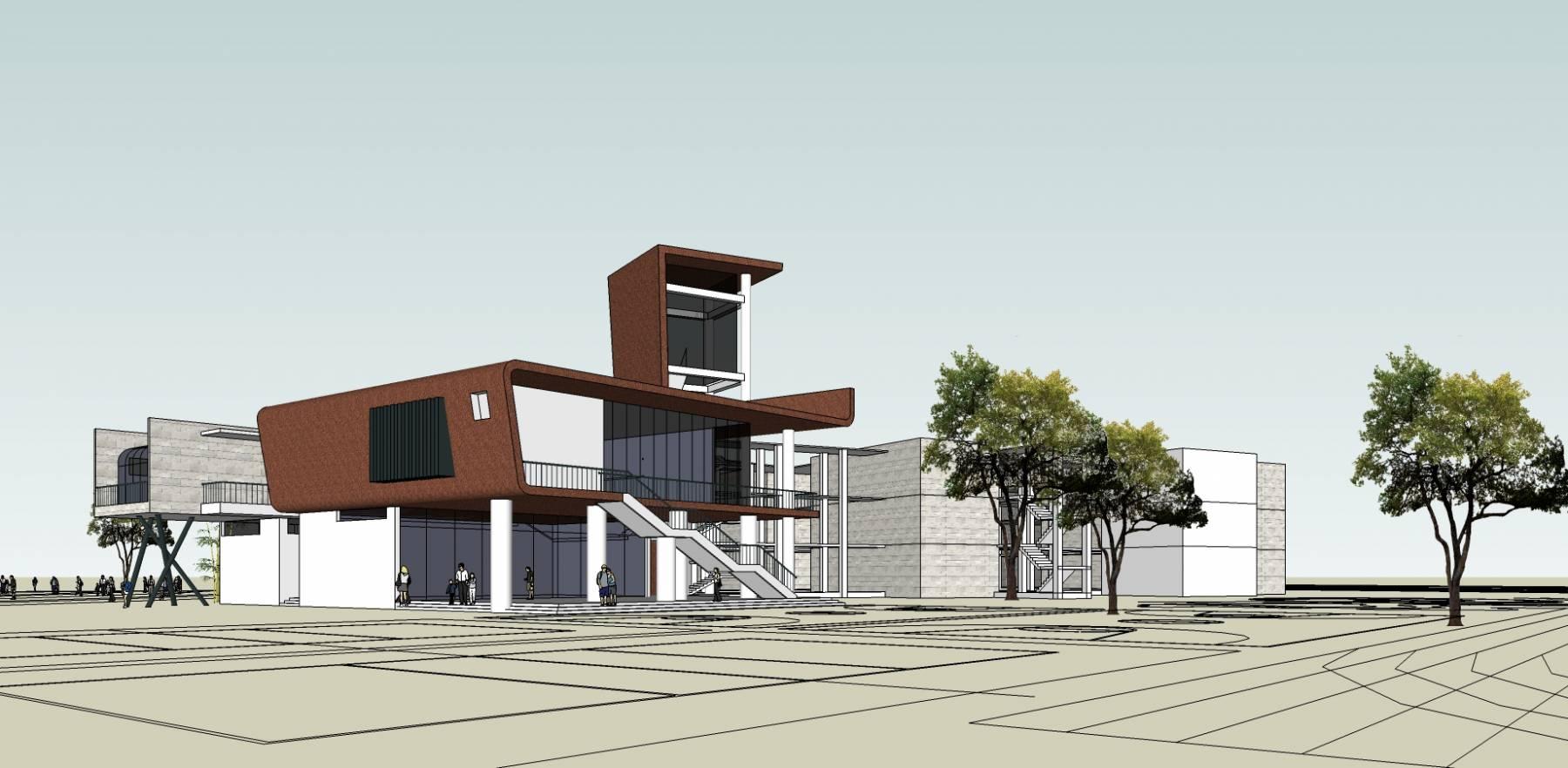 学校 科技类 办公楼 艺术中心 12303